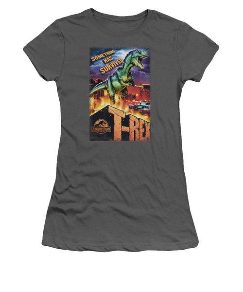 Jurassic Park - Rex In The City Women's T-Shirt (Junior Cut) by Brand A