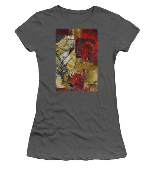 Led Zeppelin Women's T-Shirt (Junior Cut) by Corporate Art Task Force