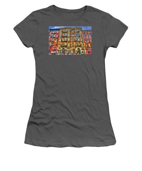 Led Zeppelin Physical Graffiti Building In Color Women's T-Shirt (Junior Cut) by Randy Aveille