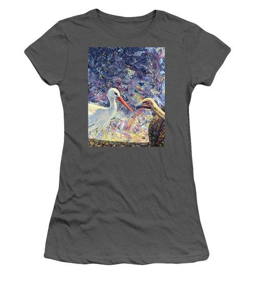 Living Between Beaks Women's T-Shirt (Junior Cut) by James W Johnson