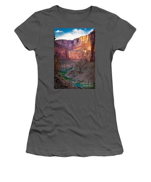 Marble Cliffs Women's T-Shirt (Junior Cut) by Inge Johnsson