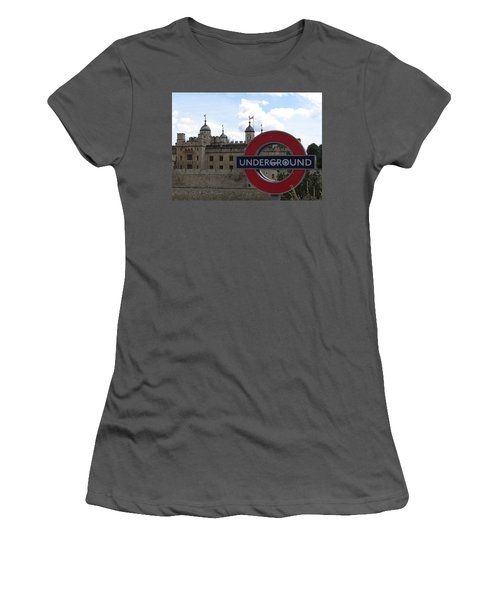 Next Stop Tower Of London Women's T-Shirt (Junior Cut) by Jenny Armitage