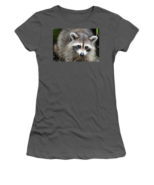 Raccoon Eyes Women's T-Shirt (Junior Cut) by Carol Groenen
