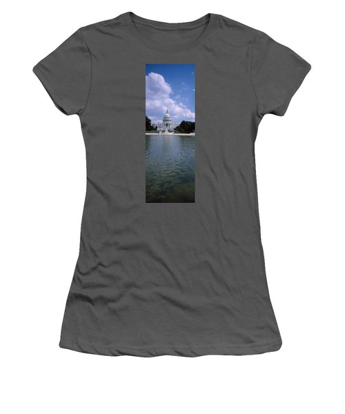 Reflecting Pool With A Government Women's T-Shirt (Junior Cut) by Panoramic Images