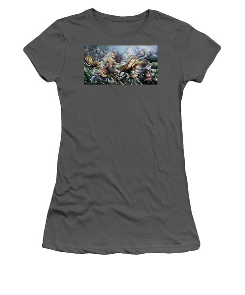 Something Fowl Afloat Redux Women's T-Shirt (Junior Cut) by Patrick Anthony Pierson