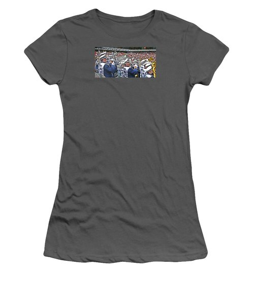 Sounds Of College Football Women's T-Shirt (Junior Cut) by Tom Gari Gallery-Three-Photography