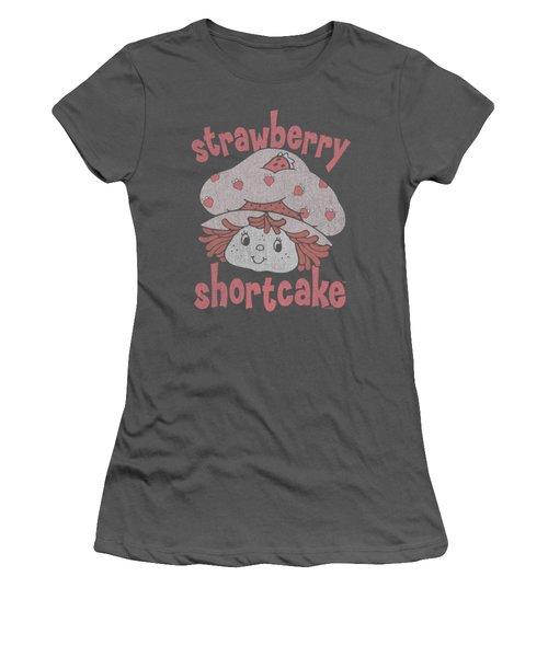 Strawberry Shortcake - Big Head Women's T-Shirt (Junior Cut) by Brand A