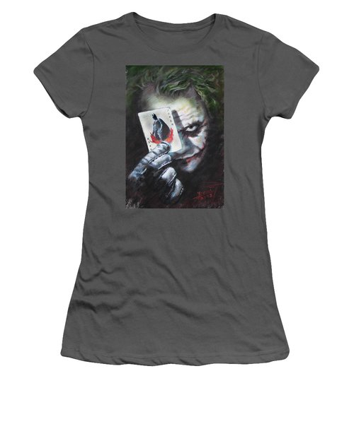 The Joker Heath Ledger  Women's T-Shirt (Junior Cut) by Viola El