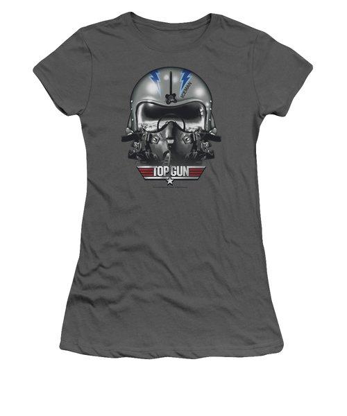 Top Gun - Iceman Helmet Women's T-Shirt (Junior Cut) by Brand A