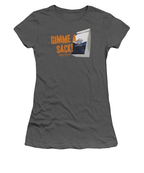 White Castle - Gimmie A Sack Women's T-Shirt (Junior Cut) by Brand A