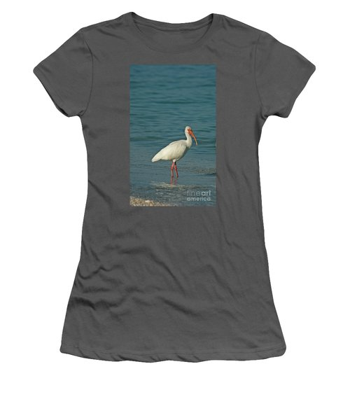 White Ibis Women's T-Shirt (Junior Cut) by Cindi Ressler