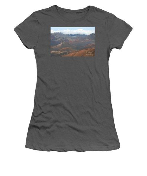 Haleakala Volcano Maui Hawaii Women's T-Shirt (Junior Cut) by Sharon Mau