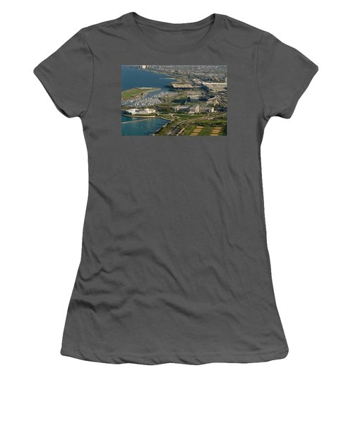 Chicagos Lakefront Museum Campus Women's T-Shirt (Junior Cut) by Steve Gadomski