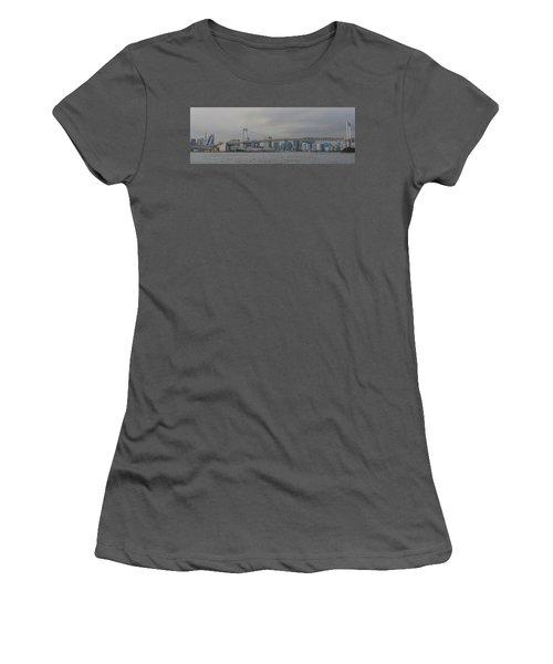Rainbow Bridge Women's T-Shirt (Junior Cut) by Megan Martens