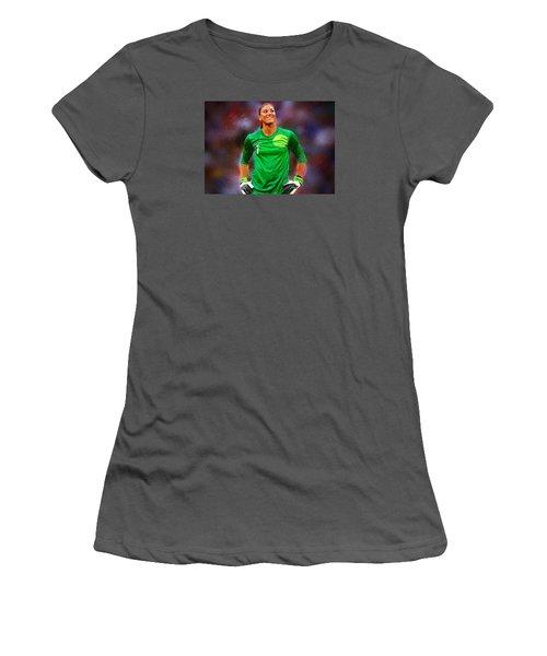 Hope Solo Women's T-Shirt (Junior Cut) by Semih Yurdabak