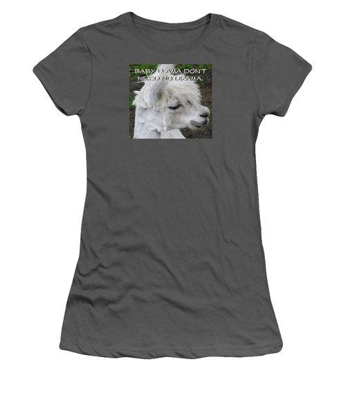 Baby Llama Women's T-Shirt (Junior Cut) by Ellen Henneke