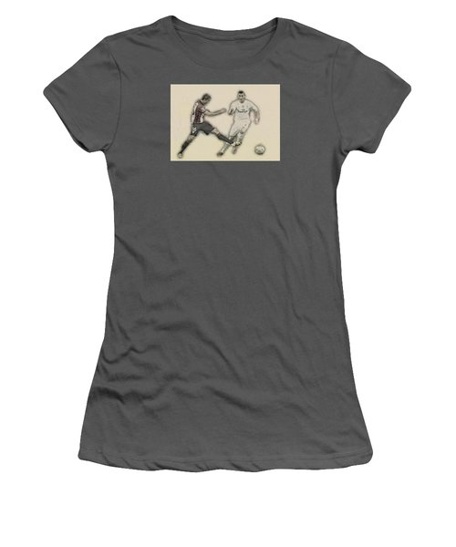 Athletic Club  Vs Real Madrid Women's T-Shirt (Junior Cut) by Don Kuing