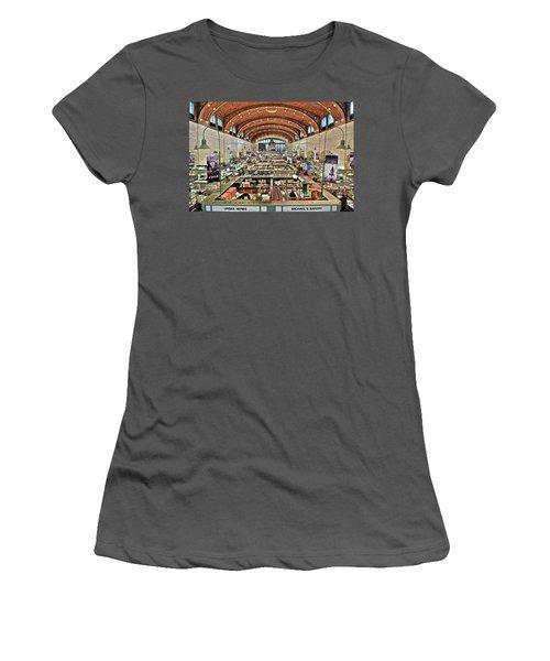 Classic Westside Market Women's T-Shirt (Junior Cut) by Frozen in Time Fine Art Photography