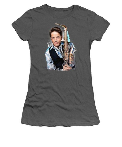 Dave Koz Women's T-Shirt (Junior Cut) by Melanie D