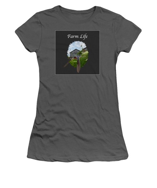 Farm Life Women's T-Shirt (Junior Cut) by Jan M Holden