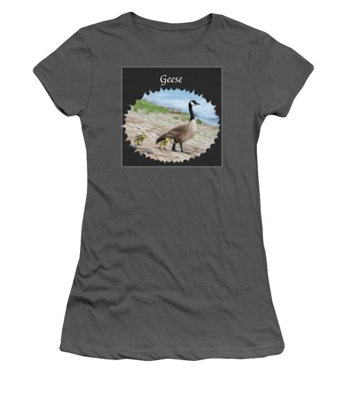 Geese In The Clouds Women's T-Shirt (Junior Cut) by Jan M Holden