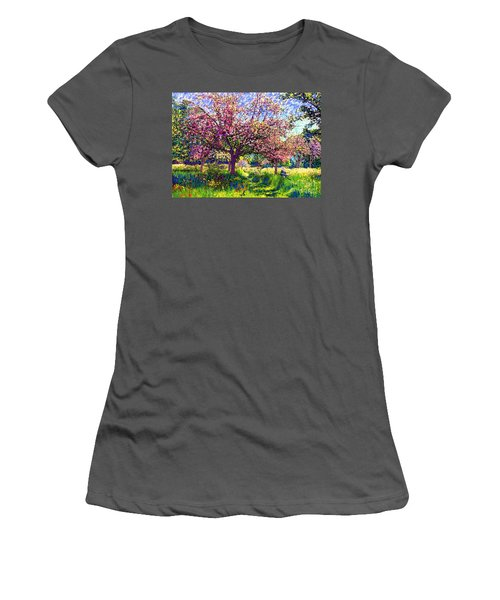 In Love With Spring, Blossom Trees Women's T-Shirt (Junior Cut) by Jane Small