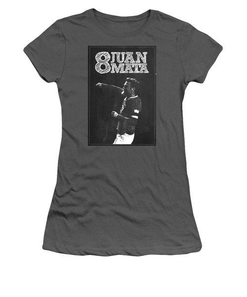 Juan Mata Women's T-Shirt (Junior Cut) by Semih Yurdabak