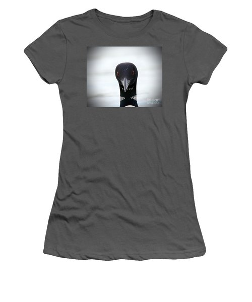Loon Stare Women's T-Shirt (Junior Cut) by Peter Gray