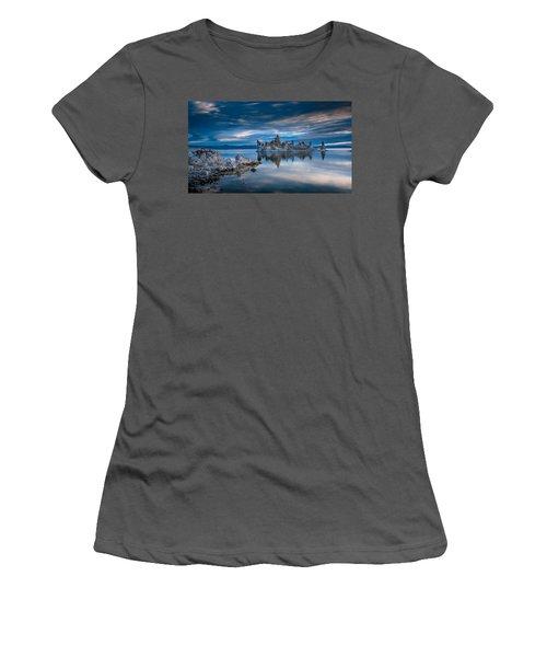Mono Lake Tufas Women's T-Shirt (Junior Cut) by Ralph Vazquez