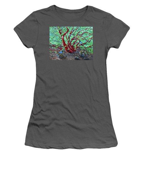 Morning Manzanita Women's T-Shirt (Junior Cut) by Laura Iverson