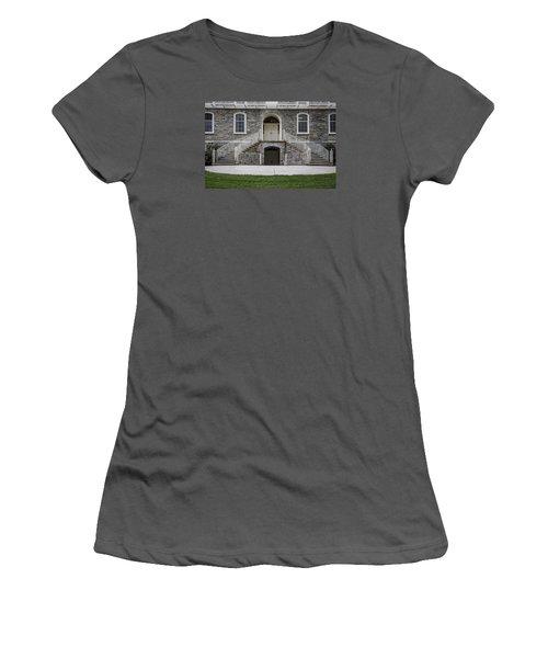 Old Main Penn State Stairs  Women's T-Shirt (Junior Cut) by John McGraw