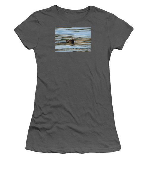 Puffin Reflected Women's T-Shirt (Junior Cut) by Mike Dawson