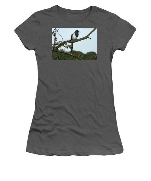 September Magpie Women's T-Shirt (Junior Cut) by Philip Openshaw