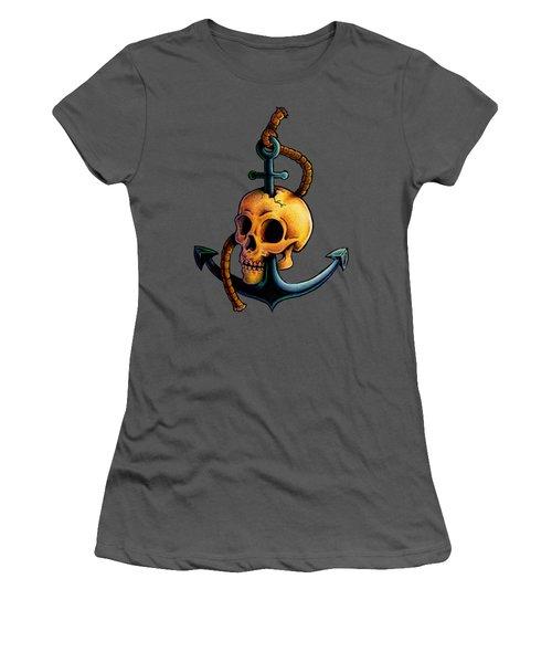 Skullchor Women's T-Shirt (Junior Cut) by Vicki Von Doom