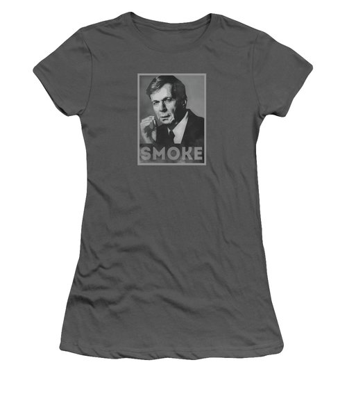 Smoke Funny Obama Hope Parody Smoking Man Women's T-Shirt (Junior Cut) by Philipp Rietz