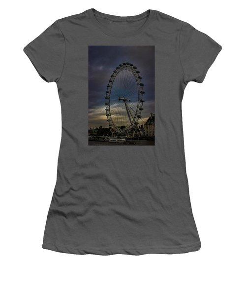 The London Eye Women's T-Shirt (Junior Cut) by Martin Newman