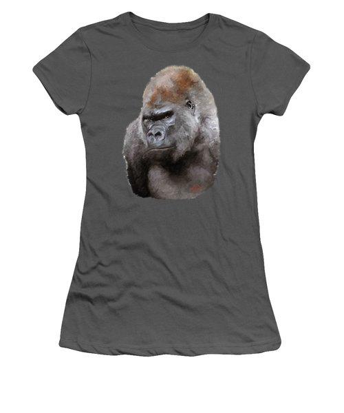 U Lookin At Me Women's T-Shirt (Junior Cut) by James Shepherd