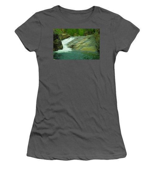 Yak Falls   Women's T-Shirt (Junior Cut) by Jeff Swan