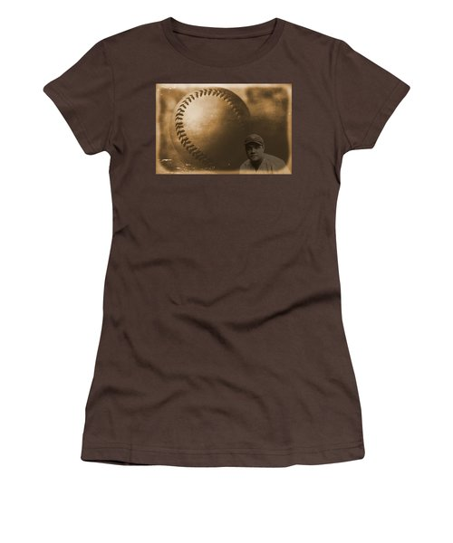 A Tribute To Babe Ruth And Baseball Women's T-Shirt (Junior Cut) by Dan Sproul