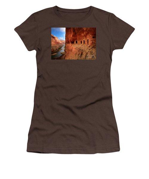 Anasazi Granaries Women's T-Shirt (Junior Cut) by Inge Johnsson