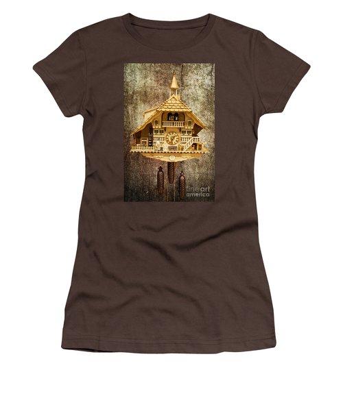 Black Forest Figurine Clock Women's T-Shirt (Junior Cut) by Heiko Koehrer-Wagner