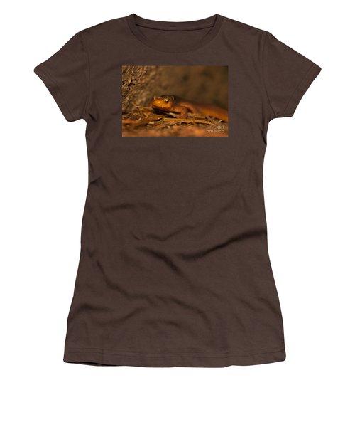 California Newt Women's T-Shirt (Junior Cut) by Ron Sanford