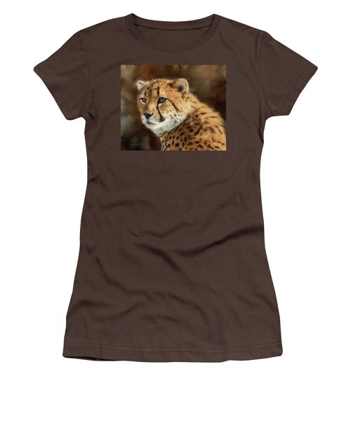 Cheetah Women's T-Shirt (Junior Cut) by David Stribbling