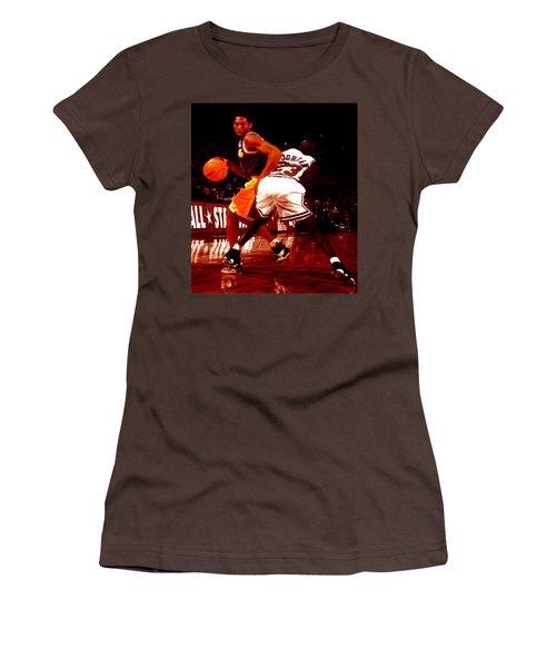 Kobe Spin Move Women's T-Shirt (Junior Cut) by Brian Reaves