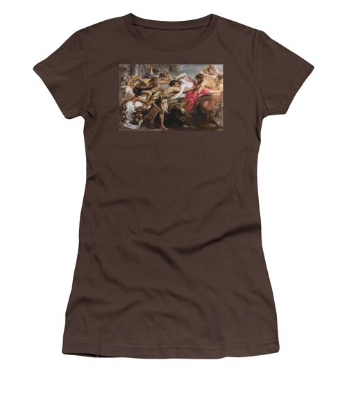 Lapiths And Centaurs Oil On Canvas Women's T-Shirt (Junior Cut) by Peter Paul Rubens