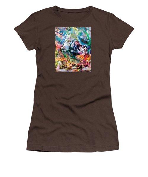 Led Zeppelin Original Painting Print  Women's T-Shirt (Junior Cut) by Ryan Rock Artist