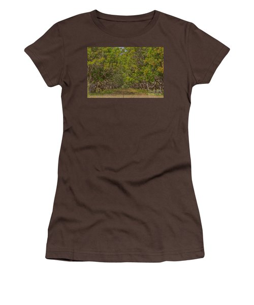 Mango Orchard Women's T-Shirt (Junior Cut) by Douglas Barnard
