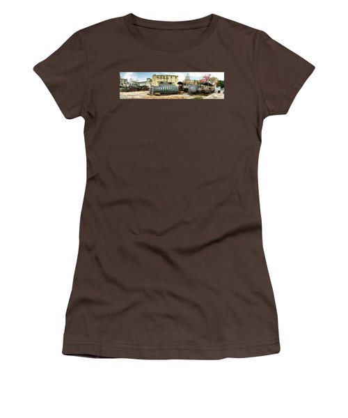 Old Trains Being Restored, Havana, Cuba Women's T-Shirt (Junior Cut) by Panoramic Images