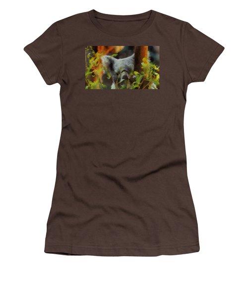 Shy Koala Women's T-Shirt (Junior Cut) by Dan Sproul