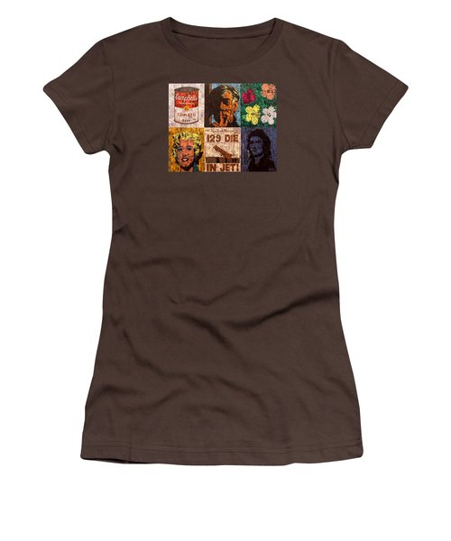 The Six Warhol's Women's T-Shirt (Junior Cut) by Brent Andrew Doty